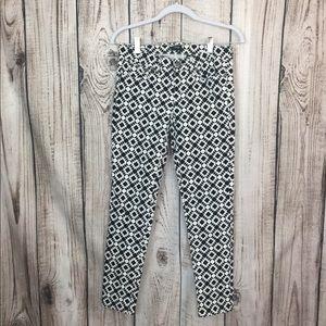 J. Crew Stretch Geometric Print Skinny Pants 24